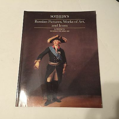 1990 Sotheby's April 5 Russian Pictures Works of Art Icons London