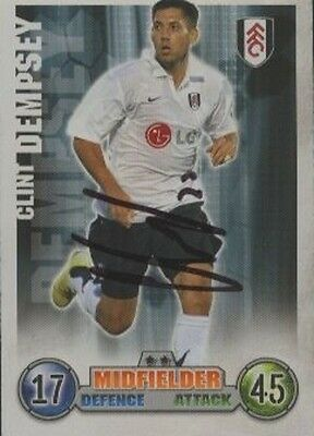 Clint Dempsey - Fulham - Signed Trading Card - COA (42967)