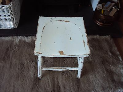 antique wooden vintage shabby chic stool,oak.....up cycle,farmhouse.