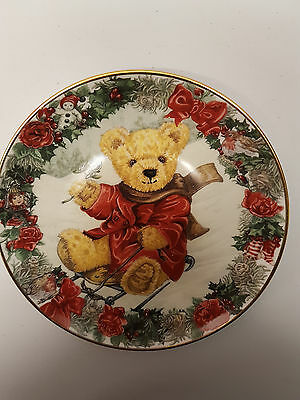 Limited Edition Franklin Mint Collectors Plate ** Teddy's Winter Wonderland **