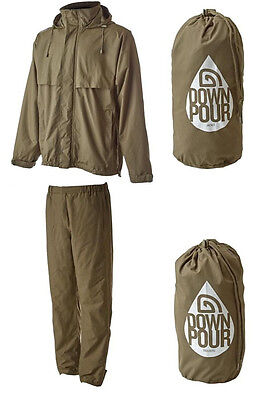 Trakker NEW Carp Fishing Downpour + Waterproof Jacket & Trouser Set Combo