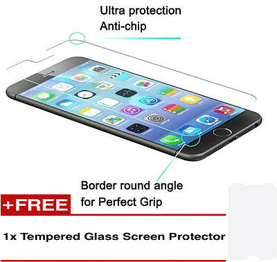 100%Genuine Tempered Glass Screen Protector 1+1 For Iphone 6Plus {{op74