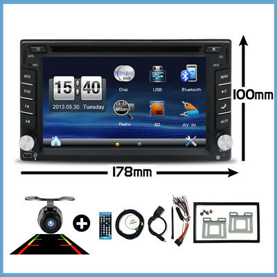 Autoradio 2 Din Mit Gps Navigation Navi Bluetooth Touchscreen Dvd Cd Usb Sd Mp3
