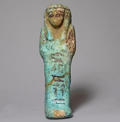Egyptian shabti for Nes-ankh-ef-maat: 10th-8th century BC.