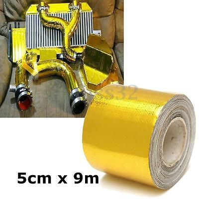 "1 Roll Adhesive Reflective Gold High Temperature Heat Shield Wrap Tape 2""x30ft"