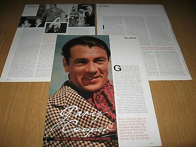 GARY COOPER - 3 page magazine feature