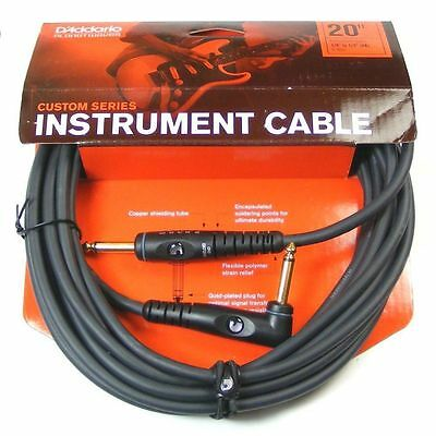 D'Addario / Planet Waves PW-GRA-20 Custom Series Instrument Cable 20ft - Angled