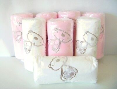 8 Luxury Baby Blankets Pink and Cream