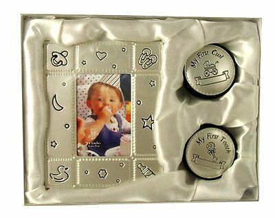 My First Curl Tooth and Photo - Frame Silver New Baby Keepsake Gift