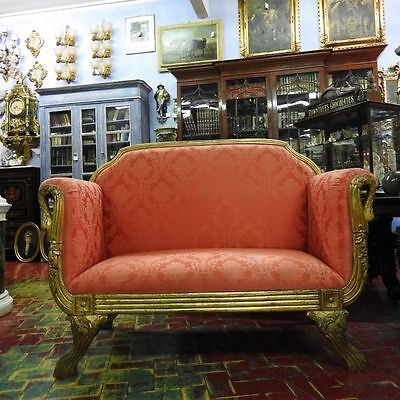 Wonderful Sofa Sofa' Golden With Swans Style Empire Of 900 Grande Taste
