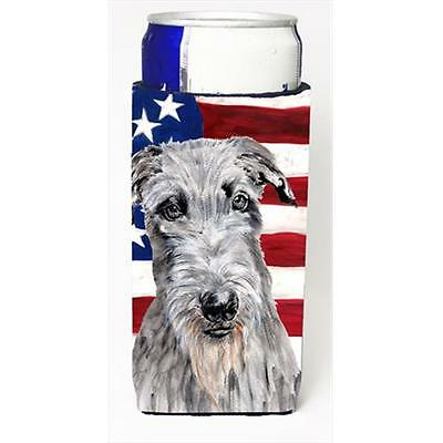 Scottish Deerhound With American Flag Usa Michelob Ultra bottle sleeves Slim ...