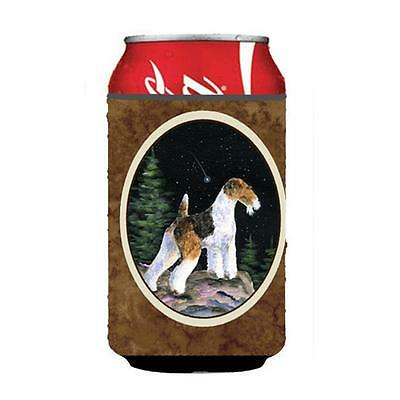 Carolines Treasures Starry Night Fox Terrier Can Or bottle sleeve Hugger 12 oz.
