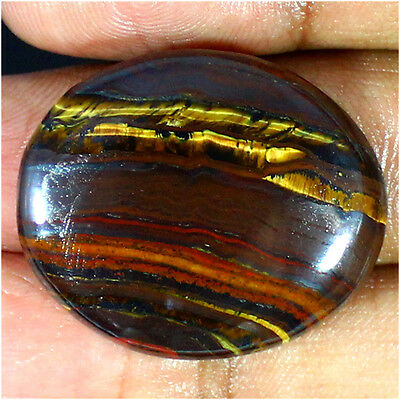 48.80 Cts Natural Designer Iron Tiger Oval Cabochon Loose Gemstone Stone_Artt