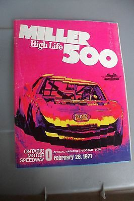 MIller High Life 500 Ontario Speedway February 28, 1971