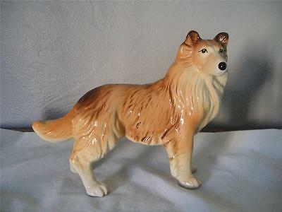 Vintage English Melba Ware Standing Sheltie Dog Figurine