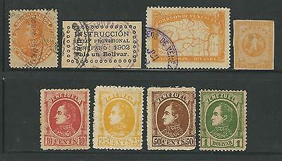 Venezuela: X forgeries 8 differents, mint and used for study and testing...VE689