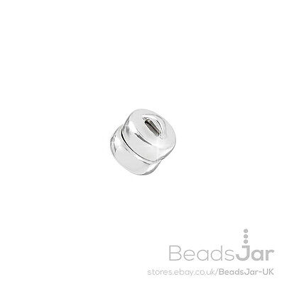 Sterling Silver STS Magnetic Clasp 925 Strong Flat Round 5mm Pack of One (D70/5)