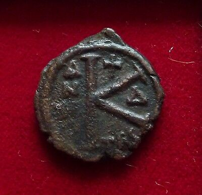 Byzantine bronze 1/2 follis coin Thessalonica mint