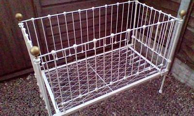 Old Victorian iron/steel cot, bed Pos Delivery