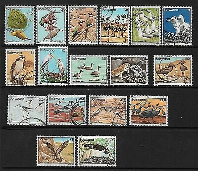 BOTSWANA Stamps 1982 Birds incomplete set missing 6t value used