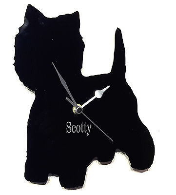 West Highland Dog Clock With Dogs Name