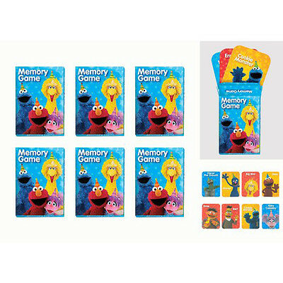 SESAME STREET Stars MINI MEMORY GAMES (6) ~Birthday Party Supplies Favors Toys