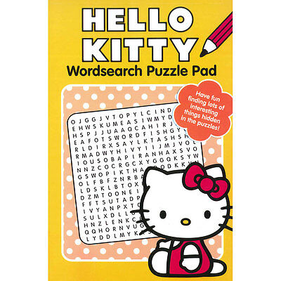 Hello Kitty Wordsearch Puzzle Pad  - Children, Activity, Educational, Quiz Book