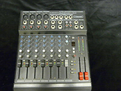 Citronic Clb2Dsp-B , 8 Channel Mixer With Digital Delay