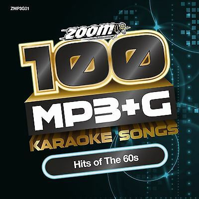 Zoom Karaoke MP3+G Disc - 100 Songs - Hits of The 60s Brand New