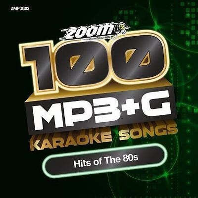 Zoom Karaoke MP3+G Disc - 100 Songs - Hits of The 80s Brand New DVD-Rom