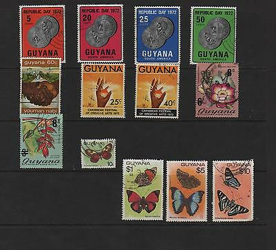 GUYANA-BUTTERFLIES - USED  sg561-4.568.574-5.601.620.699.706.708-708a.