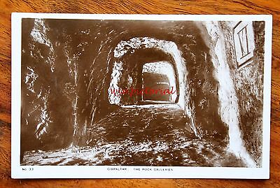 Early Photo Postcard Rp Gibraltar The Rock Galleries Interior
