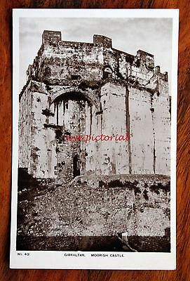 Early Photo Postcard Rp Gibraltar Moorish Castle No 40