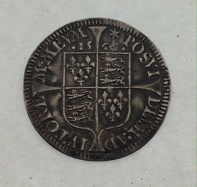 **Extremely Rare** Milled 1566/4/3 Elizabeth I (1st) Sixpence, S2598A