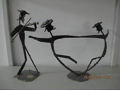 Handmade Dancers And Fiddler, All Metal, Made In Israel