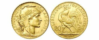 20 francs or Coq (1899-1914) // 20 french francs Rooster gold