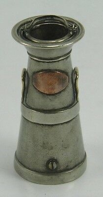 Antique plated metal milk churn & pail sewing thimble & needle case
