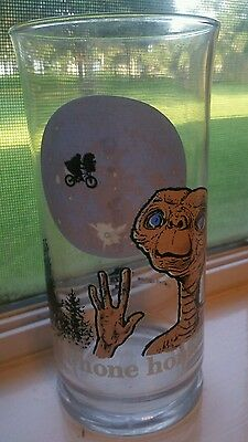 """Vintage 1982 E.T. Pizza Hut Collector Glass """"Phone Home"""""""