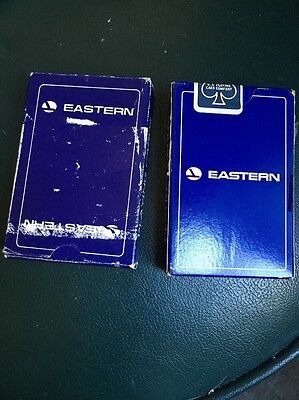 Vintage Set Of Eastern Airlines Playing Cards Unopened Bridge Size