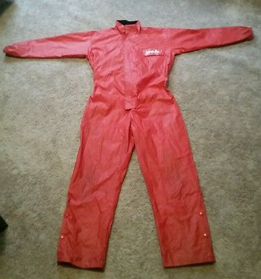 Polo Motoradd Motorcycle Rain Suit Red Size L Vintage