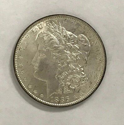 Gorgeous 1986 - P Morgan Silver Dollar With Stunning Rainbow Toning