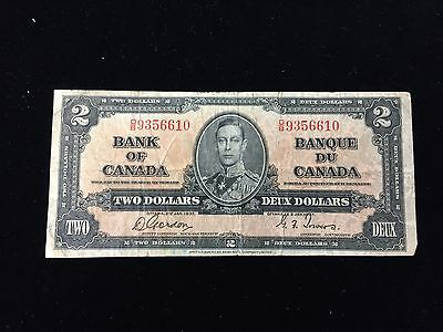 1937 Bank of Canada $2 Note