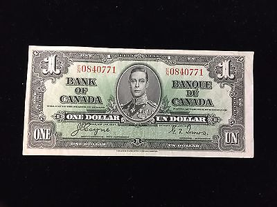 1937 Bank of Canada $1 Note