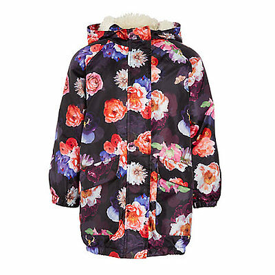 John Lewis Floral Hooded Parka Coat Rain Jacket. Age 10. New With Tag
