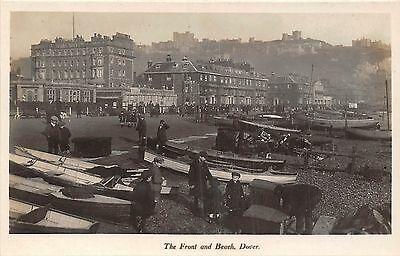 POSTCARD   KENT   DOVER   The  Front and  beach       RP