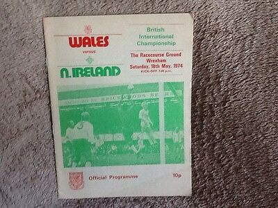 Wales v Northern Ireland programme 1974