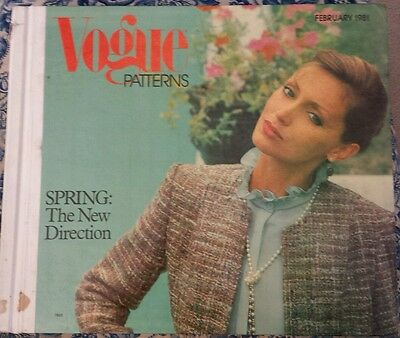 Vogue Pattern Book - February 1981 - Store display - Vintage