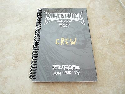 Metallica Madly In Anger Europe May-July 2004 Band Concert Tour Itinerary Book 2