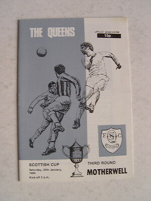 Queen of the South v Motherwell 1979/80 Scottish Cup