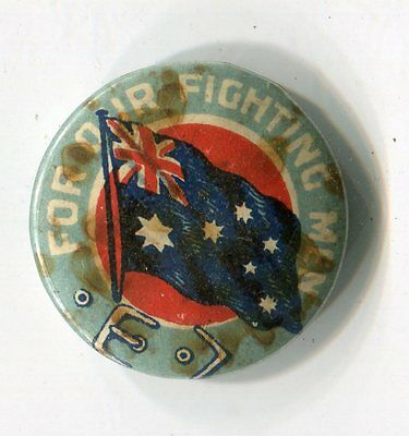For Our Fighting Men Button Badge Pin (Lot 8)